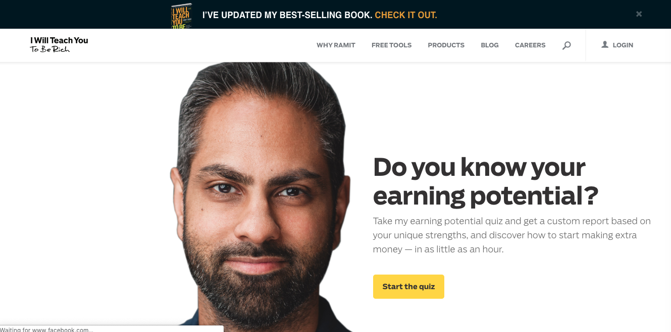 Ramit Sethi - Emails do a great job of engaging interest in order to drive traffic to his website